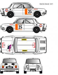 Simca 1000 Rizos Race 1971