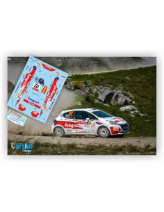 Peugeot 208 R2 Roberto Blach & Jose Murado Rally Portugal 2018