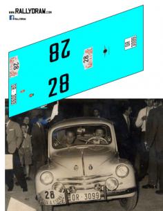 Renault 4cv Reverter Race 1957