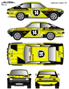 Opel Kadett GTE Aaltonen Safari 1976