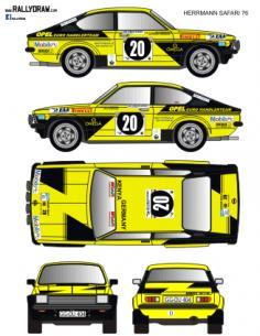 Opel Kadett GTE Herrmann Safari 1976