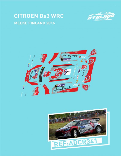 Citroen DS3 WRC Meeke Finland 2016
