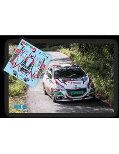 Peugeot 208 R2 Manuel Mora e Ivan Bajo Rallye Princesa de Asturias 2017
