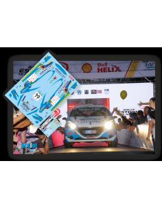 Peugeot 208 R2 Raul Hernandez & Rogelio Peñate Rallye Estonia 2018