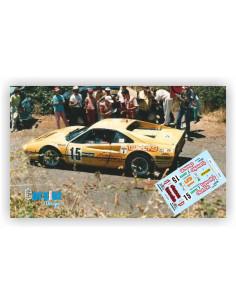 FERRARI 308 GTB T.WORSWICK & R.DAVE RALLY EL CORTE INGLES 1986