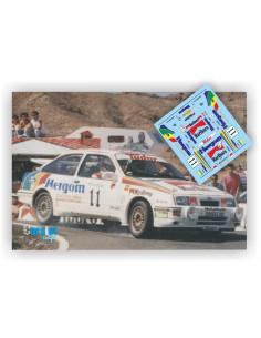FORD SIERRA RS COSWORTH HERGÓM J.PURAS & T.AGUADO - RALLY EL CORTE INGLES 1988