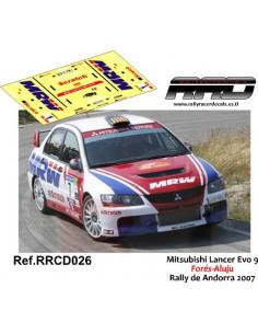 Mitsubishi Lancer Evo 9 Fores-Aluju Rally de Andorra 2007