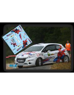 Peugeot 208 R2 Oscar Barroso e Ivan Gómez Rallye Ferrol 2017.