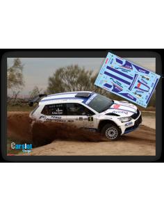 Skoda Fabia R5 Xavier Pons & Rodrigo Sanjuan Rallye Tierra de Madrid 2018