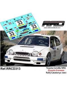 Toyota Corolla WRC Gryazin-Eremeev Rally Catalunya 2002
