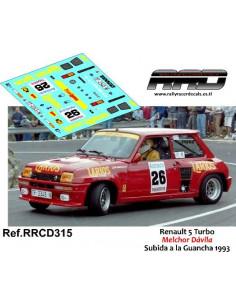 Renault 5 Turbo Melchor Davila Subida a la Guancha 1993
