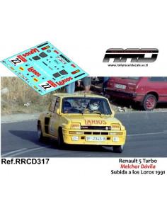 Renault 5 Turbo Melchor Davila Subida a los Loros 1991