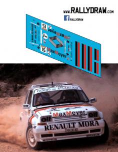 Renault 5 gt turbo Proto Mora Race San Vicente 1991