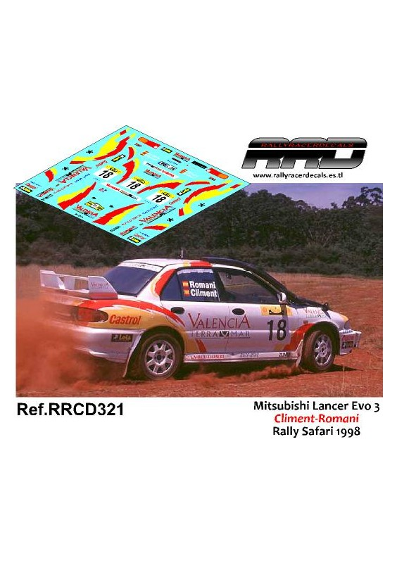 Mitsubishi Lancer Evo 3 Climent-Romani Rally Safari 1998