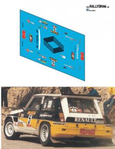 Renault 5 Maxi saqinz Race 1986