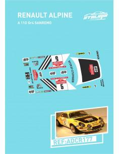 Renault Alpine A110 gr4 Sanremo