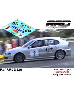Seat Leon Cupra R Grinyo-Pujol Rally Osona 2004