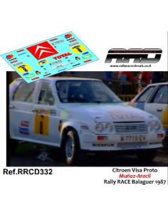 Citroen Visa 4x4 Muñoz-Aracil Rally RACE Balaguer 1987