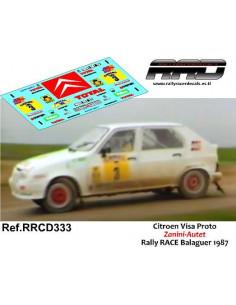 Citroen Visa 4x4 Zanini-Autet Rally RACE Balaguer 1987