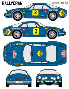 Renault Alpine Pavon Rias Bajas 1972