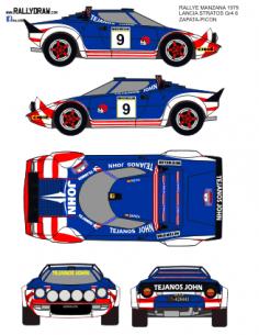 Lancia stratos Zapata Manzana 1979