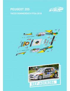 Peugeot 205 Yacco Dommerdich FFSA 2018