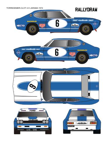 Ford Capri Bagration-Villota-cabral 4 horas jarama 1975