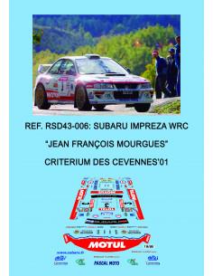 Subaru Impreza WRC - Jean Francois Mourgues - Criterium des Cevennes 2001