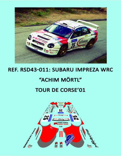 Subaru Impreza WRC - Achim Mortl - Tour de Corse 2001