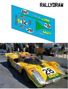 Ferrari 512 s Juncadella-Merzario 24 h Daytona 1971