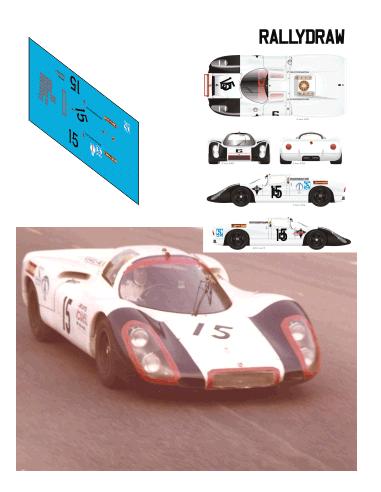 Porsche 907 Baturone-Palomo 12 h Barcelona 1969