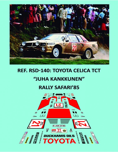 Toyota Celica TwimCam Turbo - Juha Kankkunen - Rally Safari 1985