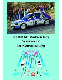 Mazda 323 GTX - Jesús Puras - Rally Montecarlo 1991