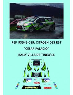 Citroën DS3 R3T - César Palacio - Rally Villa de Tineo 2016