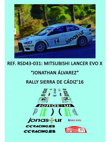 Mitsubishi Lancer Evo X - Jonathan Álvarez - Rally Sierra de Cádiz 2016