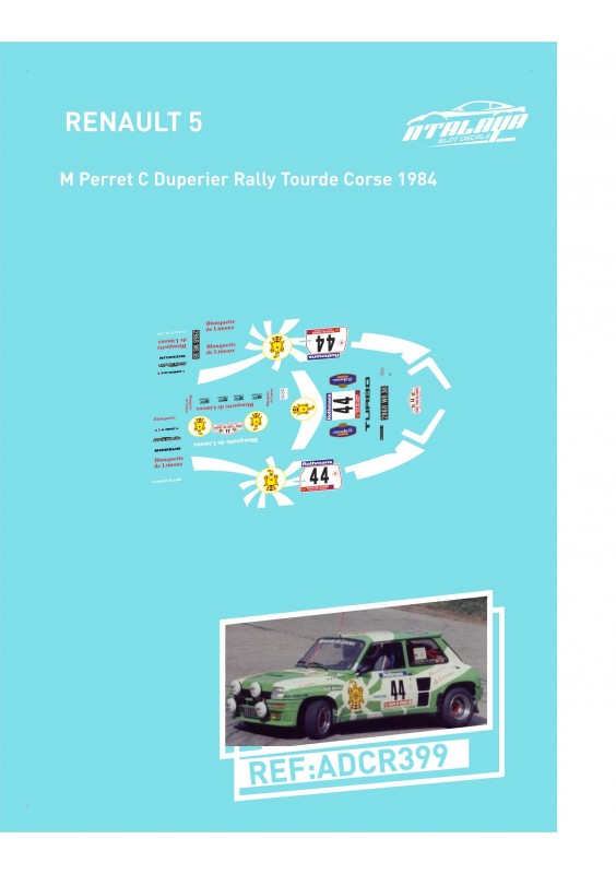 Renault 5 M Perret C Duperier Rally Tourde Corse 1984