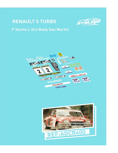 Renault 5 turbo F Varela L Oro Rally San Martin