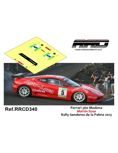 Ferrari 360 Martin-Sosa Rally Senderos La Palma 2013