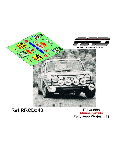 Simca 1000 Muñoz-Garrido Rally 2000 Virajes 1974