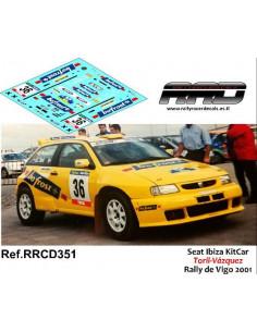 Seat Ibiza Kitcar Toril-Vazquez Rally de Vigo 2001