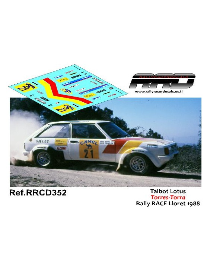 Talbot Lotus Torres-Torra Rally RACE Lloret 1988