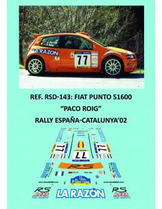 Fiat Punto S1600 - Paco Roig - Rally España-Catalunya 2002