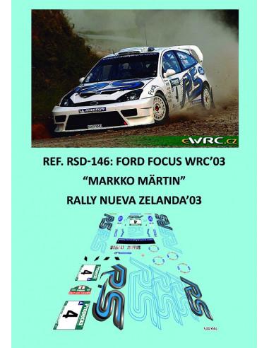 Ford Focus WRC'03 - Markko Märtin - Rally Nueva Zelanda 2003