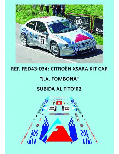 Citroen Xsara Kit Car - J.A. Fombona - Subida al Fito 2002