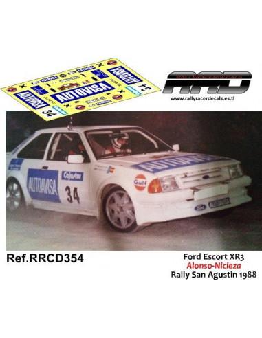 Ford Escort XR3 Alonso-Nicieza Rally San Agustin 1988