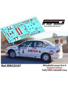 Mitsubishi Lancer Evo 8 Izaguirre-Gomez Rally RACE Sabadell 2004
