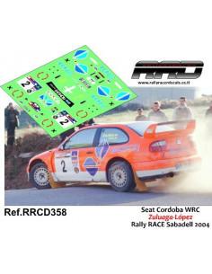 Seat Cordoba WRC Zuluaga-Lopez Rally RACE Sabadell 2004
