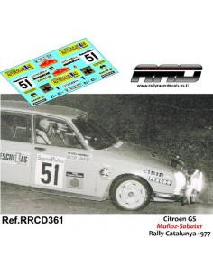 Citroen GS Muñoz-Sabater Rally Catalunya 1977
