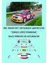 Mitsubishi Lancer Evo VIII - Sergio L. Fombona - Rally Príncipe de Asturias 2004