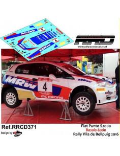 Fiat Punto S2000 Basols-Uson Rally Vila de Bellpuig 2016